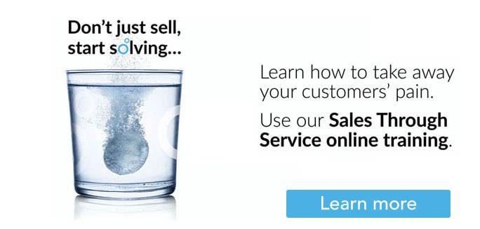 Sales Through Service training